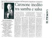 Carosone inedito tra samba e salsa - Il Tempo (31/12/2001)